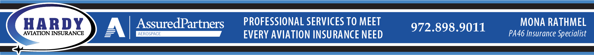 Hardy Aviation banner ad