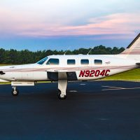 -35 JetPROP with an all-Garmin panel, NDH, and a brand new heated windshield
